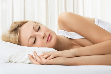 Portrait of beautiful woman sleeping. Stock Photo - 8275959