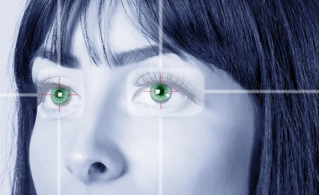 Eye system security identification. Stock Photo - 8498863