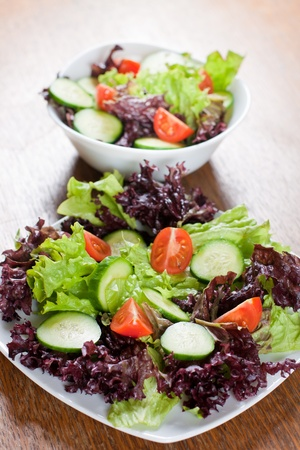 Healthy fresh salad setting on table. Stock Photo - 8860815