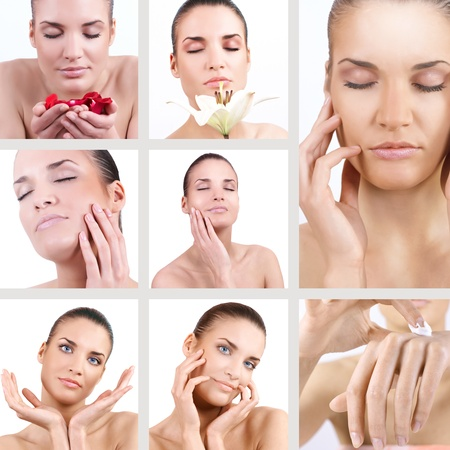Spa woman collage. photo