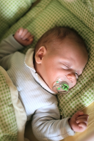 Portrait of cute baby sleeping.