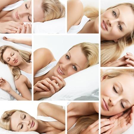 Sleeping woman collage.
