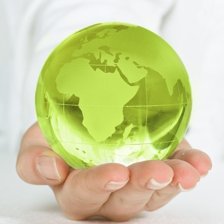 Human hands care about planet. Stock Photo - 9087047