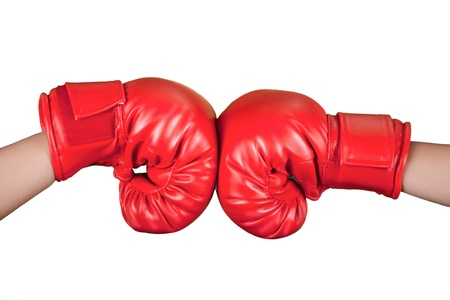 boxing glove: red boxing glove