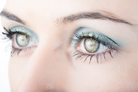 Close up of beautiful woman's eyes. photo