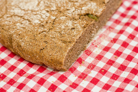 fibber: Fresh homemade bread from integral flour. Stock Photo