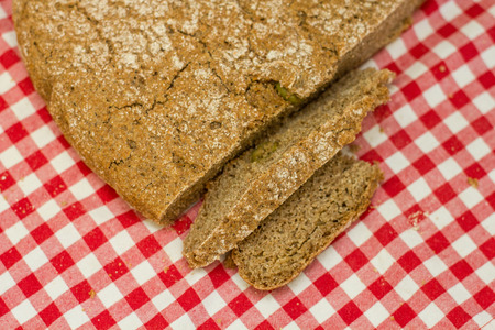 fibber: Fresh homemade bread from integral flour. Stock Photo