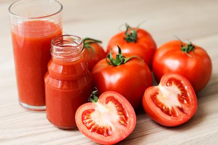 tomato juice: Fresh Tomato Juice. Stock Photo