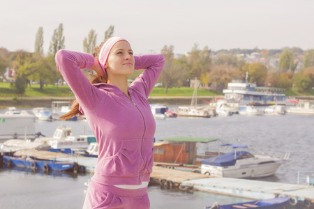 outdoor training: Fitness Young Woman ,Training Outdoor, Healthy lifestyle