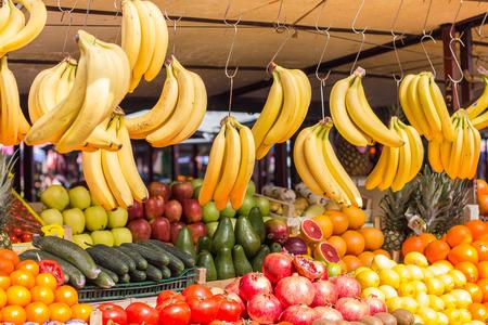 street market: Fresh mix exotic fruit at grocery street market.