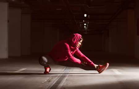 fitness training: Fitness Sporty Exercising Active Woman, workout practicing recreation training female