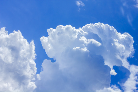 clouds sky: Sky with clouds on beautiful summer day. Stock Photo