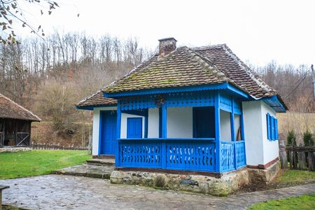 Traditional rural house at Brankovina village, Historic Landmark of Great Importance, location Republic of Serbia, Europe.