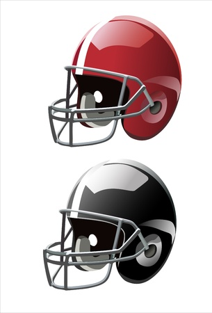 football helmet: Football helmets  Vector  Illustration