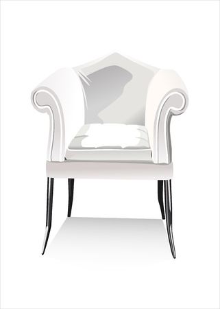easy chair: blank armchair over the white