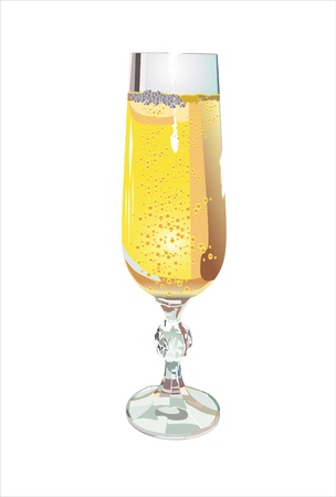 Glass of champagne Stock Vector - 13928918