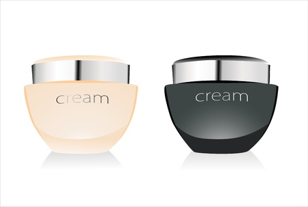 Face Cream on White Background. Vector