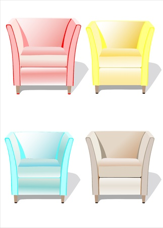 color fabric chairs. Modern Furniture Stock Vector - 13928766