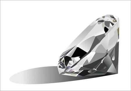 diamond jewel on white background.