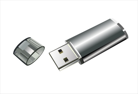 flash memory: Usb flash memory isolated on the white background