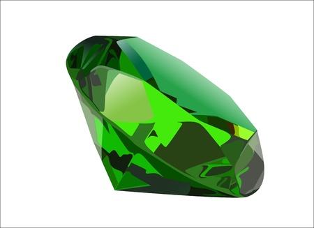 gem: Emerald - vector gemstone illustration Illustration