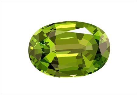 emerald gemstone: Emerald - gemstone illustration
