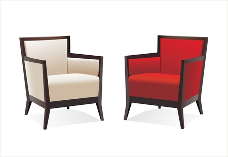 ergonomie: Zwei elegante, moderne St�hle in wei�