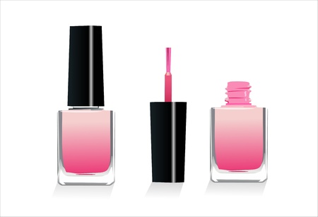 Isolated Pink Nail Polish  Vector