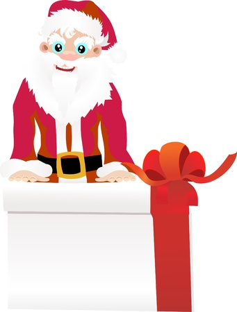 Christmas Santa Claus with gift Stock Vector - 13928782