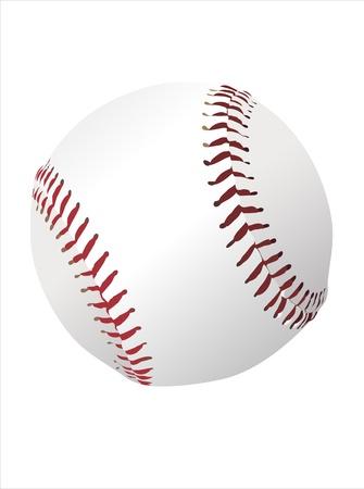 fastball: Baseball ball isolated on white background