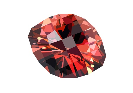 valueables: Precious red diamond isolated on white