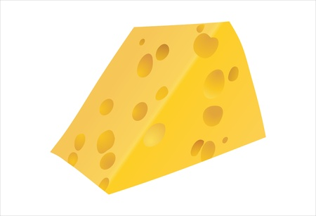 porous: Piece of yellow porous cheese food with holes