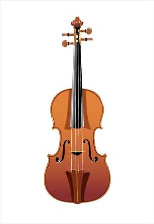 beautiful wooden cello isolated on white background Vector