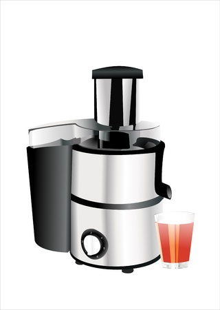 juicer: juice extractor isolated on white background, front view