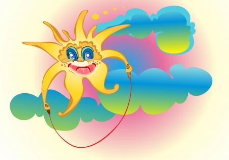 Smiling sun Stock Vector - 13928777