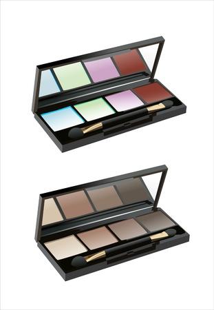 eyeshadow: Professional cosmetics. Eye-shadow,rouge,powder.