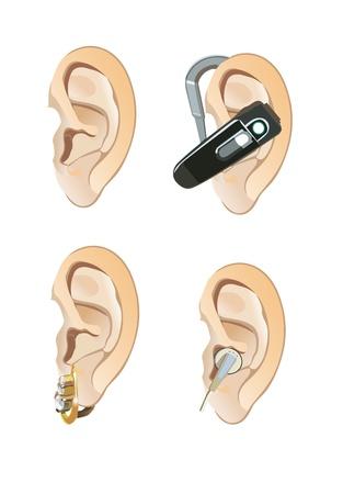 bluetooth headset: ear Illustration