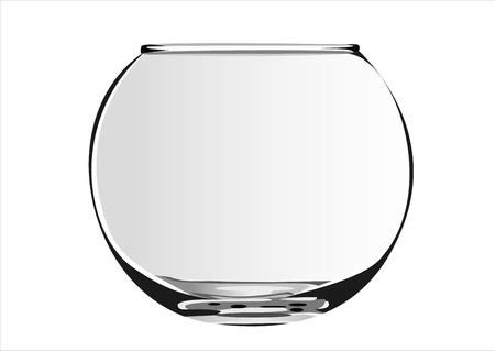 Gros plan sur un bol de poisson isolé sur blanc