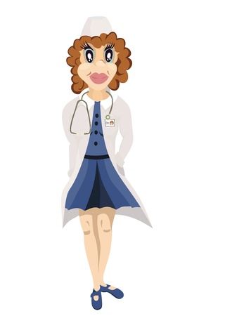 Smiling woman doctor Vector