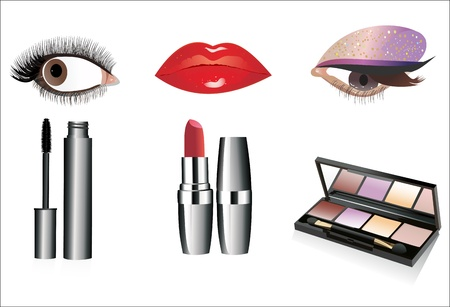 eyes looking up: Professional cosmetics
