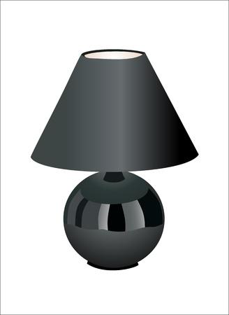 Lámpara de mesa Negro Ilustración de vector