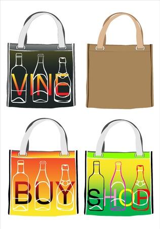 reusable: set of reusable shopping bags