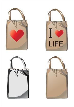 reusable: vector set of reusable shopping bags Illustration