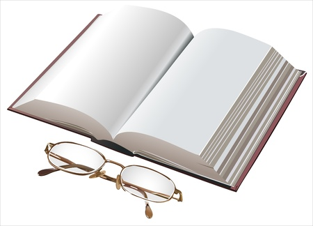 Book and Glasses Stock Vector - 13963796