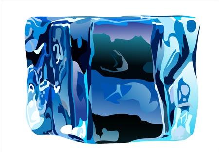 Ice cube isolate on white