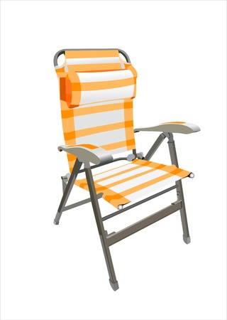 deck chair isolated: Beach chair