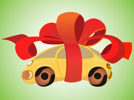 car as a gift Vector
