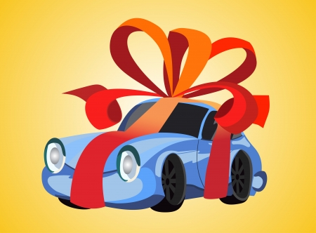 car as a gift Vector