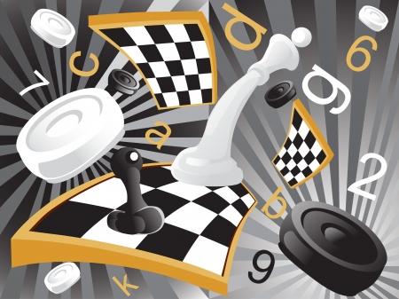 mind games: ilustraci�n de ajedrez Vectores