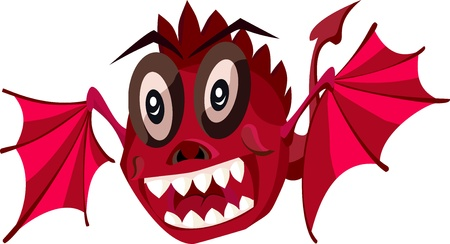 Dragon the red small Vector